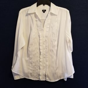 Mossimo White Button Front Shirt